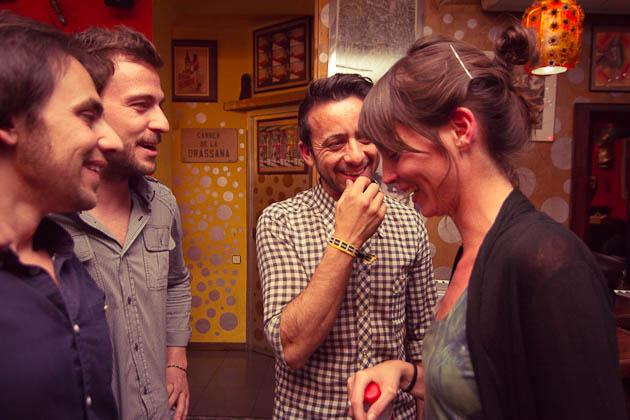 Mireia Calafell y Miguel Marín con Lluís Rueda y Albert Adroher. Fotografías by Frederic Navarro