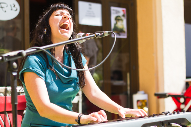 Livianna Mauretti a la Fira de Música al Carrer de Vila-seca 2012. Photos by Frederic Navarro