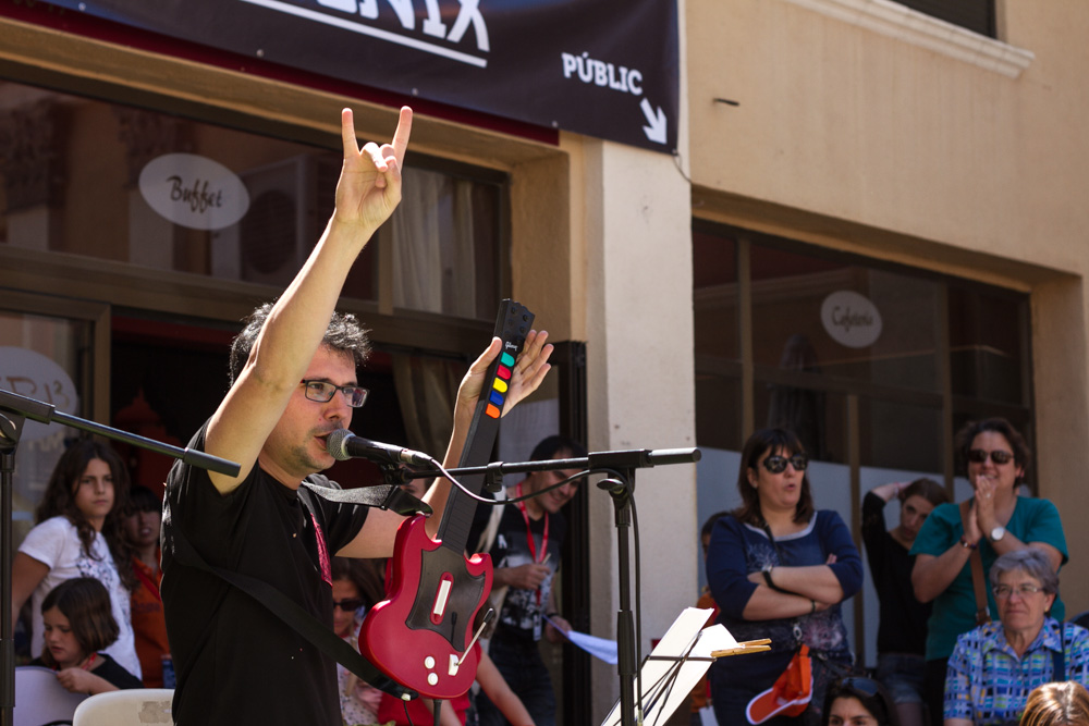 Roger Benet en Fira de Musica al Carrer de Vila-seca. Photos by Frederic Navarro
