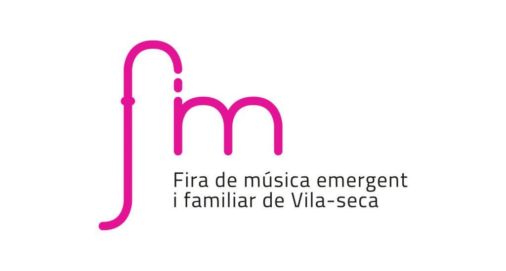 Logotipo Fira de Música emergent I familiar de Vila-seca. FiM.
